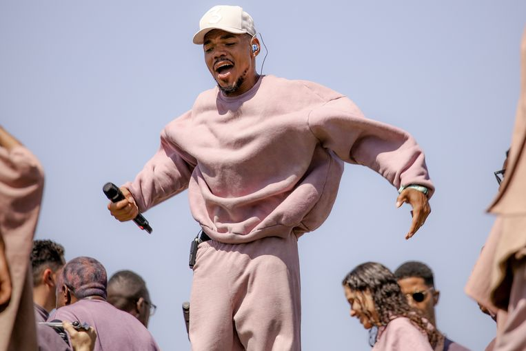 Chance The Rapper op Coachella, 21 april 2019.  Beeld Getty Images