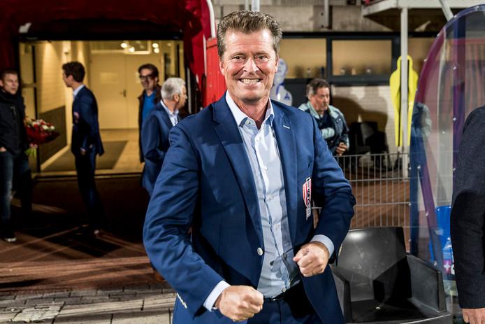 Peter Bijvelds op 5 oktober na de zege op Jong FC Utrecht (2-1).