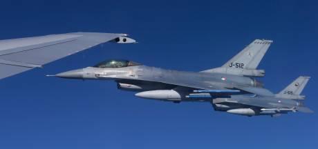 F16's van Volkel ook 's avonds de lucht in