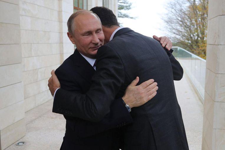 Poetin ontmoet Assad Beeld ANP