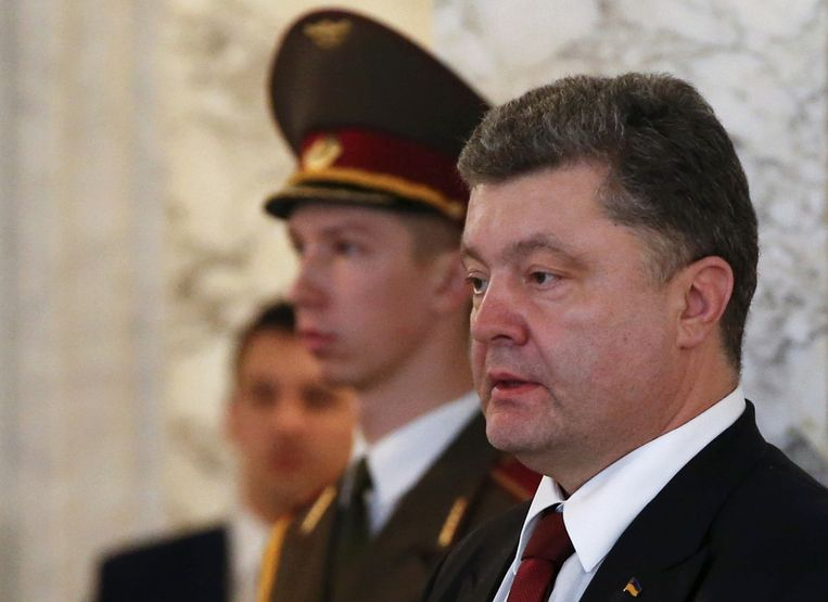 De Oekraïense president Porosjenko.