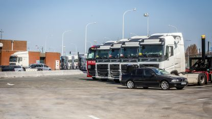 Truckersparking aan haven blijft open, stad plaatst extra sanitair