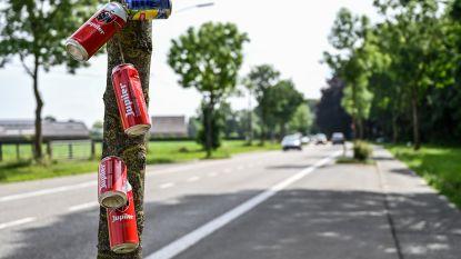 Blikjes aan boom als stil protest tegen zwerfvuil?