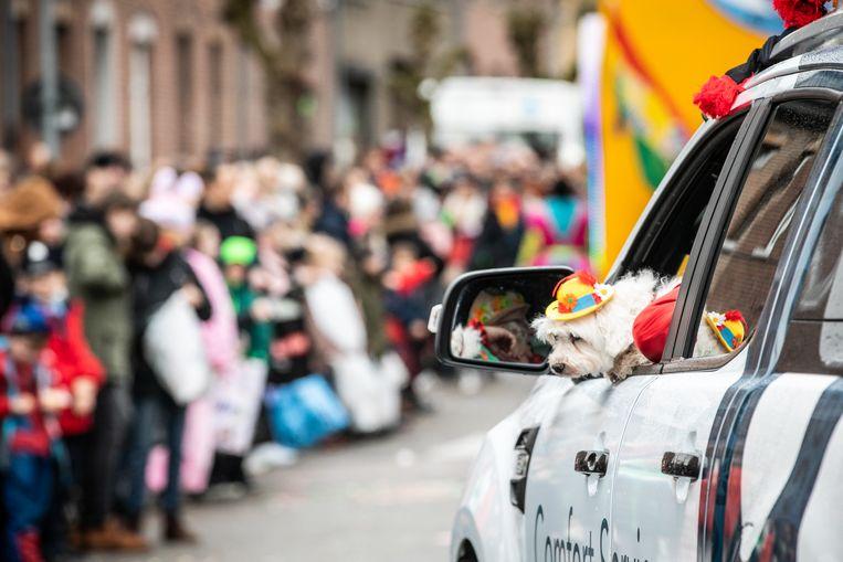 De carnavalsstoet trok op maandag 24 februari door de Truiense straten.