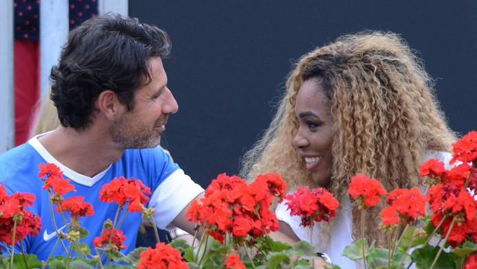 Serena Williams et son coach Patrick Mouratoglou.