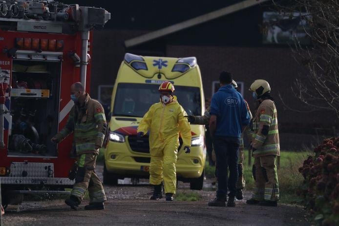 Het ongeluk gebeurde op het terrein van een boerderij aan de Hoenkoopse Buurtweg.