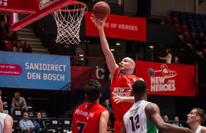 Nick Oudendag was zaterdag goed voor 9 punten en 9 rebounds tegen Forward Lease Rotterdam.