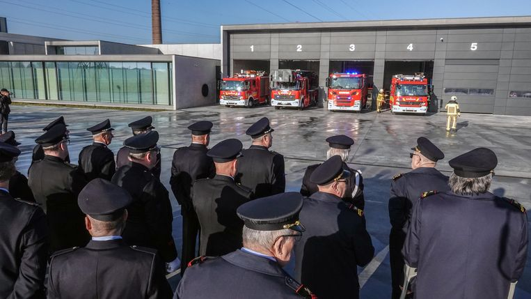 De nieuwe brandweerkazerne in Deerlijk
