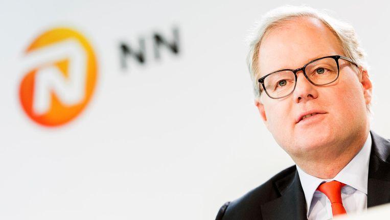 Lard Friese, CEO van Nationale-Nederlanden. 'NN Group staat sterk. Het slaagt erin ondanks de lage rente de winst te laten stijgen.' Beeld null