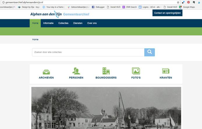 De nieuwe website van het gemeentearchief in Alphen is online