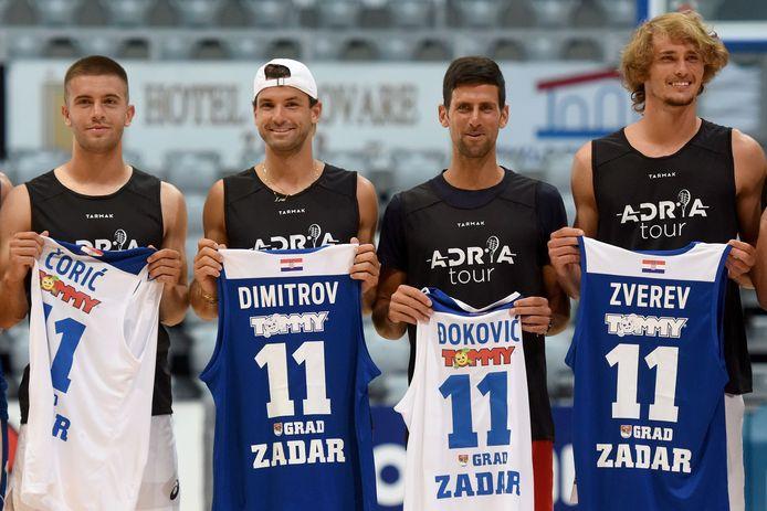 Alexander Zverev était présent aux côtés de Coric, Dimitrov et Djokovic, tous trois contaminés, sur les courts de l'Adria Tour.