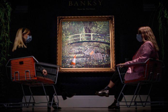 'Show me the Monet' door de Britse straatartiest Banksy.
