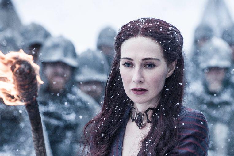 Carice van Houten in Game of Thrones.  Beeld