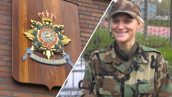 Zij was de eerste vrouw ooit in opleiding bij korps mariniers