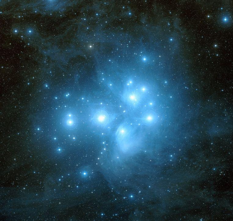 Zevengesternte. 'We kennen dat sterrenhoopje ook als de Plejaden.' Beeld Hollandse Hoogte