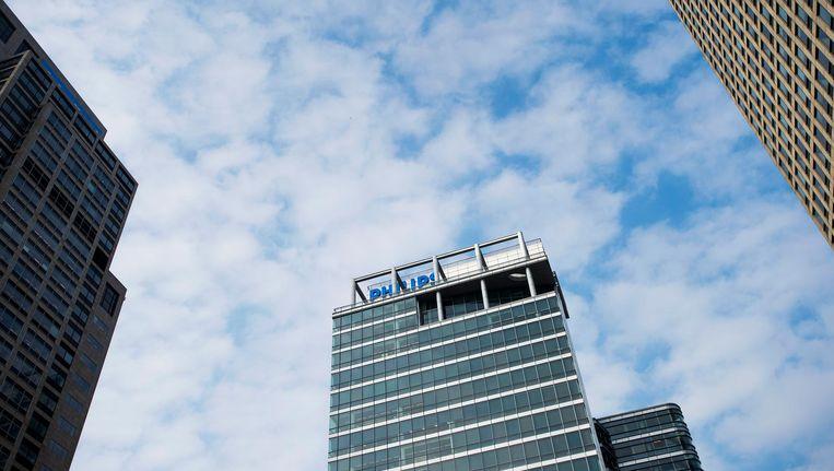 Het aandeel Philips ging onderuit op Beursplein 5 na tegenvallende kwartaalcijfers. Beeld anp