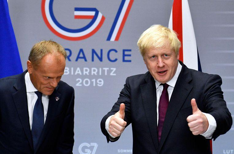Als Groot-Brittannië de EU eind oktober verlaat zonder akkoord, zullen de Britten maar een deeltje van de echtscheidingsfactuur betalen. Dat heeft de Britse premier Boris Johnson gezegd in interviews in de marge van de G7-top in het Franse Biarritz.