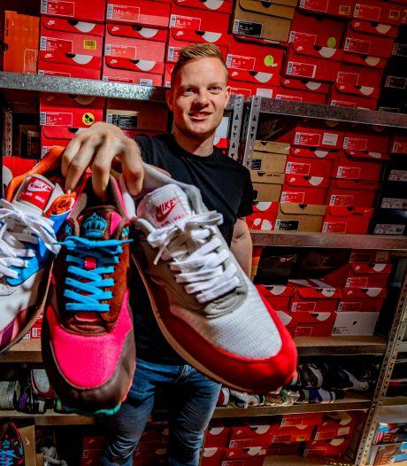 Frank (28) verdient goud geld met verkoop van tweedehands sneakers