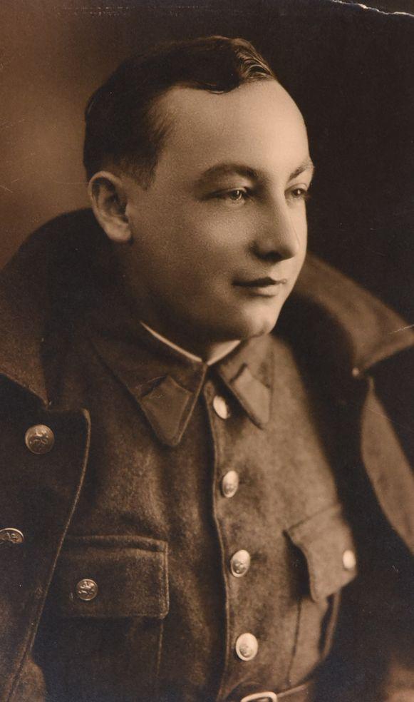 Albert Delaere als soldaat.