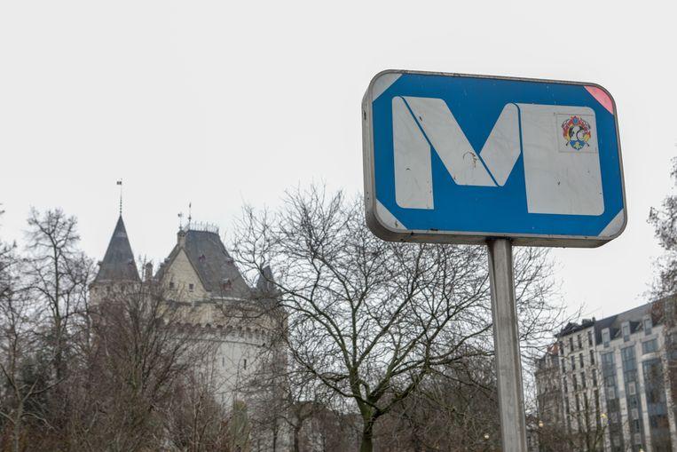 Metrostation Hallepoort in Brussel.