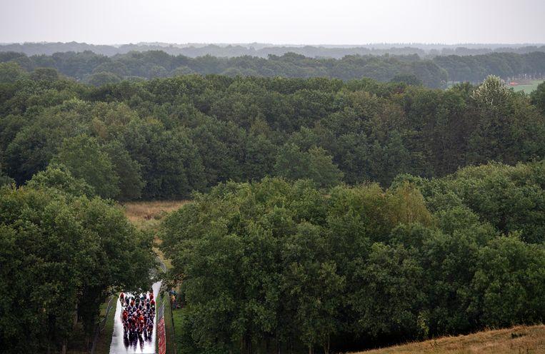 De rondjes over de VAM-berg waren slopend. Slechts 17 renners reden de wedstrijd uit. Beeld Klaas Jan van der Weij / de Volkskrant