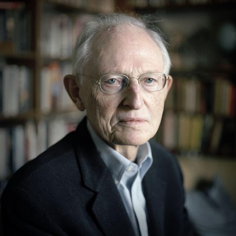 Joop Goudsblom, socioloog; Amsterdam, 10 februari 2012 Beeld Joost van den Broek
