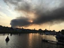 Grote brand in Westelijk Havengebied Amsterdam