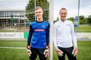 Oud-prof Frank Ensink is keeperstrainer bij ATC'65. Doelman is zijn zoon Niels.