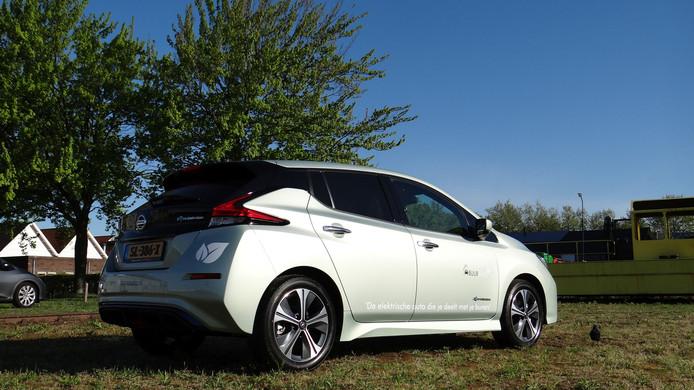 De zelfrijdende Nissan Leaf die in Breda gaat rondrijden.