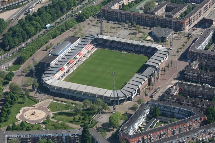 Stadion Het Kasteel van Sparta Rotterdam.