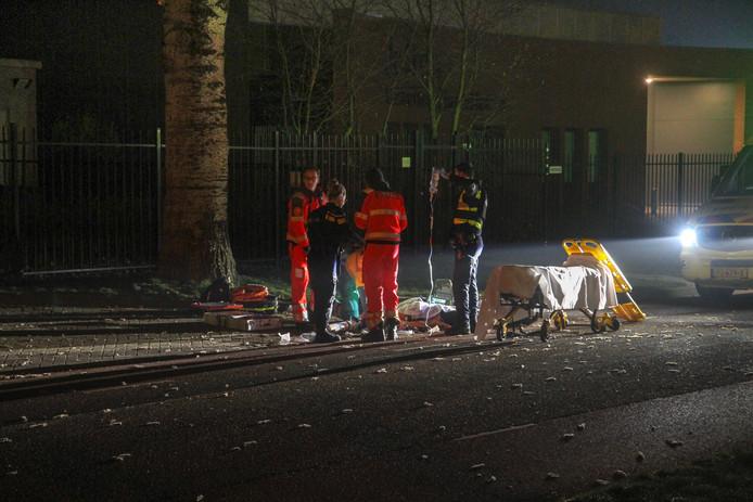 Op de Energiestraat in Deurne sprong een van de verdachten uit de auto. Hij raakte zwaargewond en is later overleden.