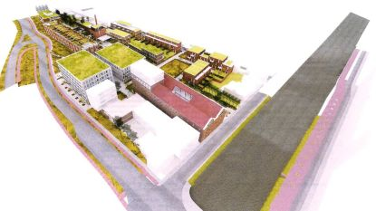 Verwaarloosde Inofer-Trapsite wordt woonwijk met kantoren en park