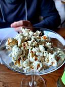 Popcorn met wasabipoeder