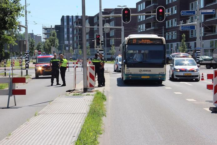De aanrijding gebeurde op de Laan van Presikhaaf in Arnhem