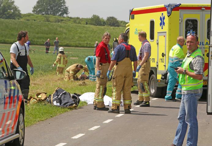Het ongeluk in 2014.