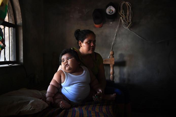 Luisito en zijn moeder Isabelle.