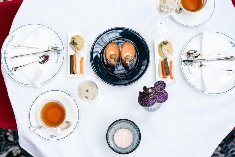 High tea bij Amstel Hotel Beeld Amstel Hotel