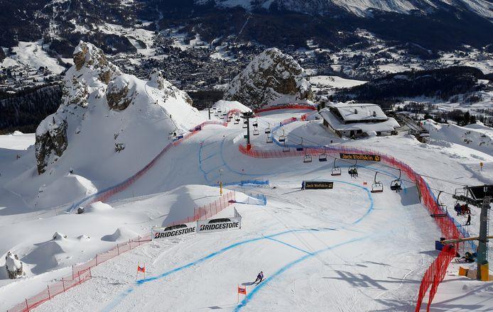 De afdaling van Cortina d'Ampezzo.