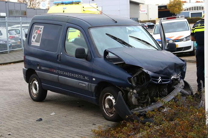 Ongeluk op de Lichtstraat in Oss.