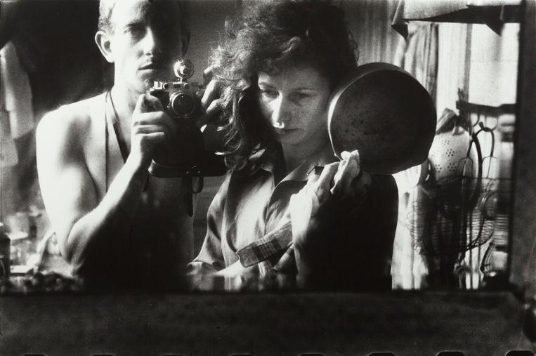 Zelfportret met Ata Kandó, Parijs, 1953. Beeld Collectie Ed van der Elsken estate, Nederlands Fotomuseum