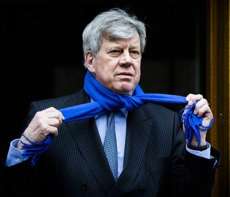Oud-minister van justitie Ivo Opstelten. Hij struikelde over de Teevendeal in maart 2015. Beeld anp
