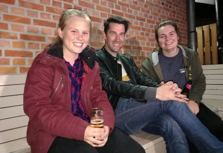 Freek Braeckman sprak met Maud Van den Dries (links) en Anne Van Gestel.