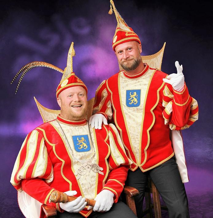 De nieuwe hoogheden Prins Edwin II en Adjudant Robby  bij De Knunnekes in Groenlo.