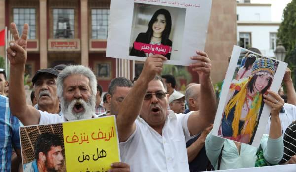 Wolk van traangas verwelkomt het verboden Rif-protest