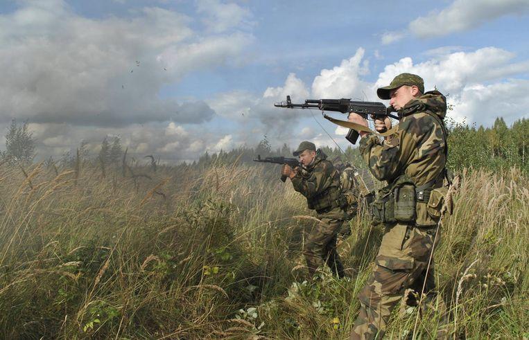Foto van Russische militaire oefening op 18 september