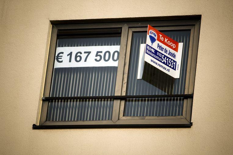 Jaarlijks worden tweeduizend woningen verkocht via de executieveiling. De vrees bestaat dat de economische malaise tot een toename van het aantal gedwongen verkopen zal leiden. Foto ANP Beeld