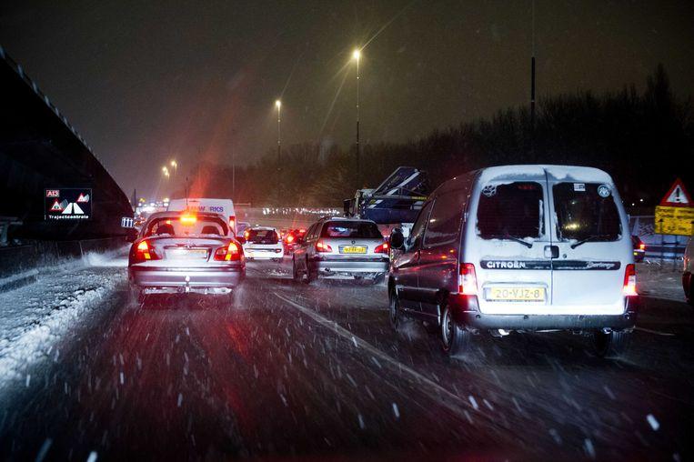 Ter illustratie: winterweer op de snelweg. Beeld ANP