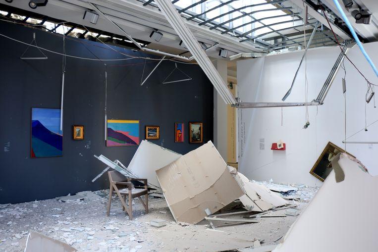 Het Sursock Museum raakte bij de ontploffing in Beiroet zwaar beschadigd. Beeld Sursock Museum / Rowina BouHarb