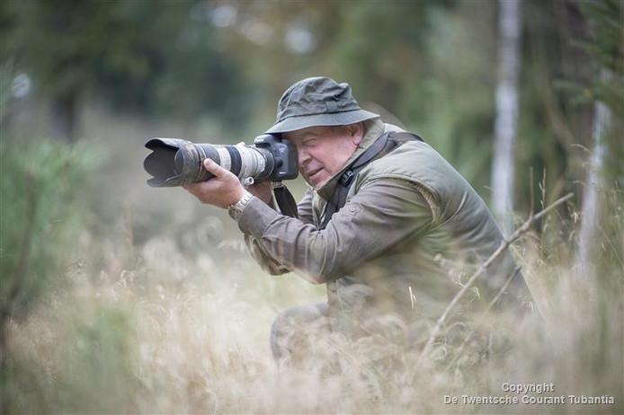 Robert Pot in actie op de Sallandse Heuvelrug.