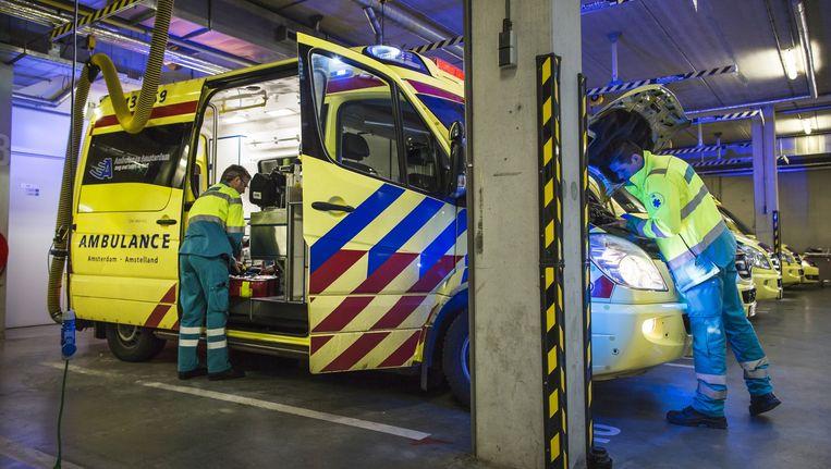 De ambulancepost aan de Karperweg in Zuid. Beeld Marc Driessen